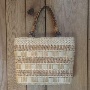 👒Woven Cornhusk Tote Shoulder Hand Bag